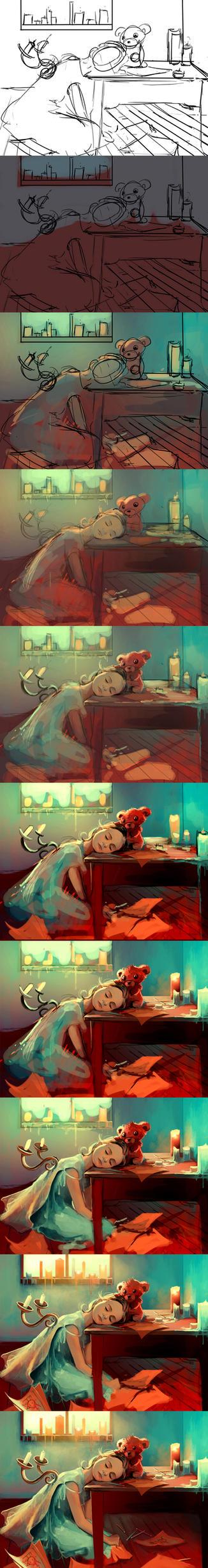 WIP when she was six by AquaSixio