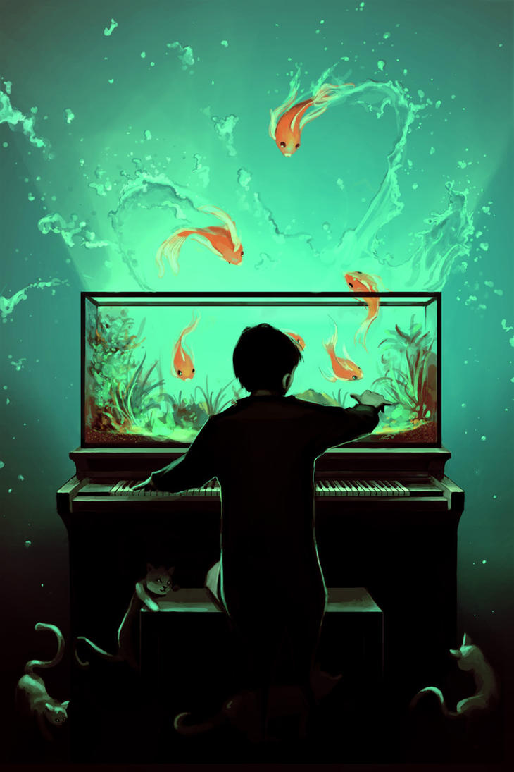 Le pianoquarium by aquasixio on deviantart for Fish tank paint