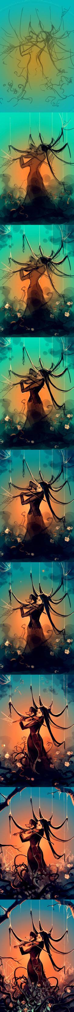 WIP Fiddleback by AquaSixio