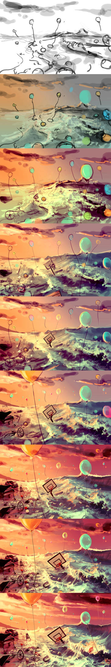 WIP Don't trash your dreams by AquaSixio