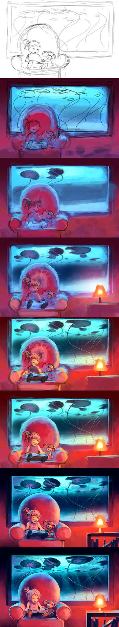 WIP Lily's Island by AquaSixio