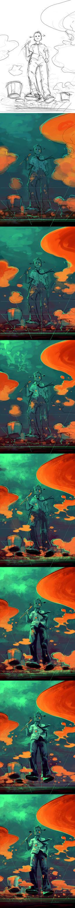 WIP A digital Painter by AquaSixio