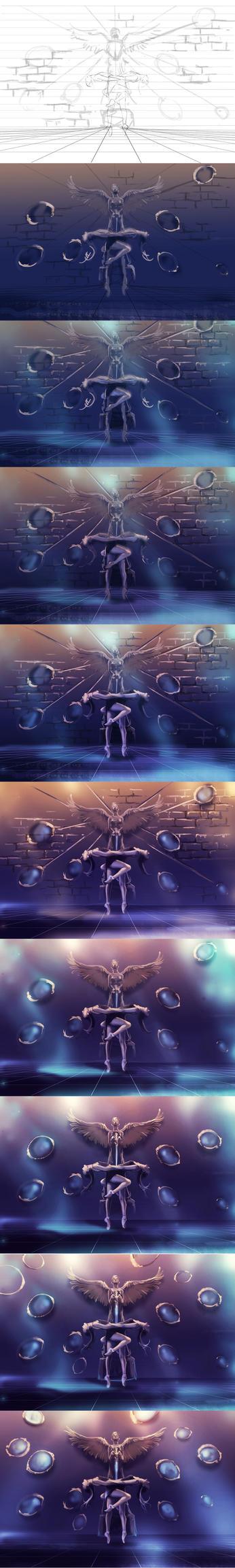 WIP of Dancing Zodiac GEMINI by AquaSixio