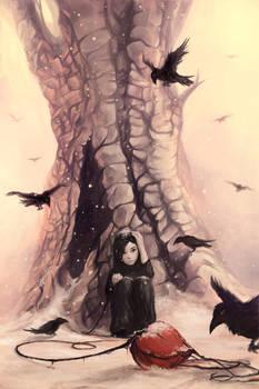 Feeding the crows...