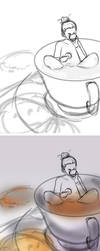 WIP of Tea Time by AquaSixio