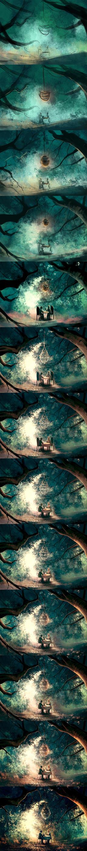WIP of Honeymoon by AquaSixio