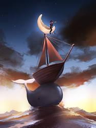 Shoot the moon by AquaSixio