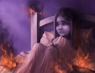 Burning endlessly by AquaSixio