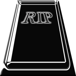 Black tombstone RIP by TheStockWarehouse