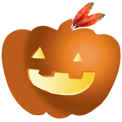 Pumpkin carved and lit