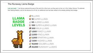 Llama Levels