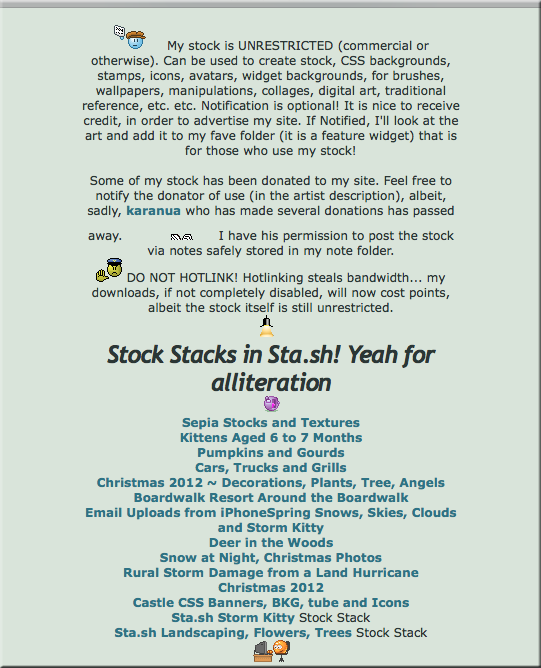 Profile Stock Rules and Links to Sta.sh Stock by TheStockWarehouse