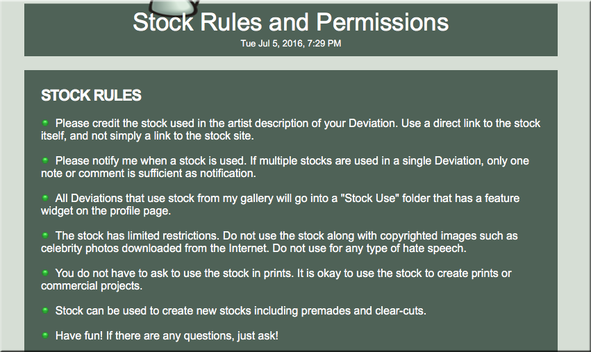 Limited Stock Rules by TheStockWarehouse