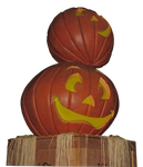 2 Pumpkins clear-cut IMG 2692 by TheStockWarehouse