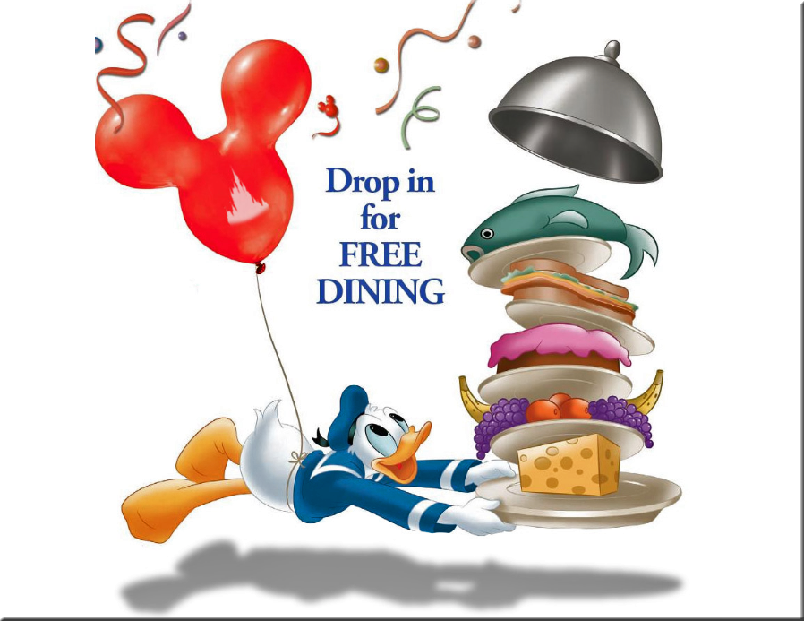 Free Dining Dropped for WDW by TheStockWarehouse