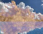 Mountain Reflection Premade BKG