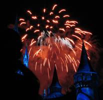 Castle Fireworks Show IMG 1076