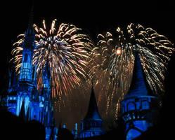 Castle Fireworks Show IMG 1078
