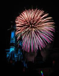 Castle Fireworks Show IMG 1128
