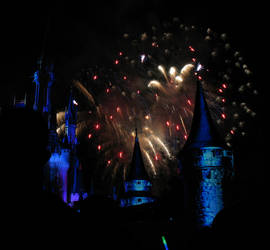 Castle Fireworks Show IMG 1132