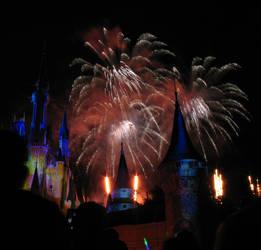 Castle Fireworks Show IMG 1133