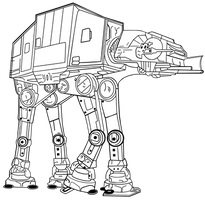 AT-AT Line Art Free to Use by TheStockWarehouse