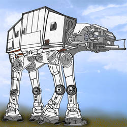 AT-AT 400 Pixels Painted for Quilt