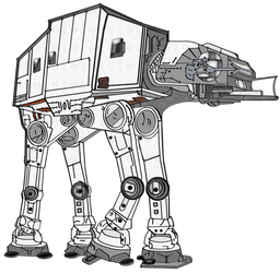 AT-AT Painted for Quilt by TheStockWarehouse