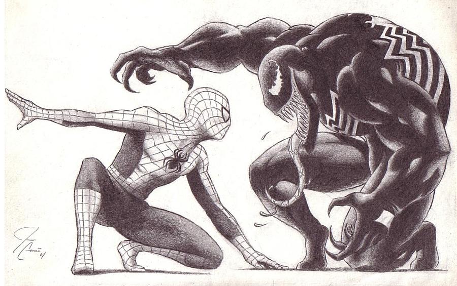 Spiderman drawings venom - photo#2