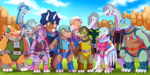 [COMMISSION] New Dinosaucers by SacredRoses-Art