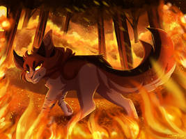 [FINISHED YCH] Fire's Gaze by Dreaming-Roses