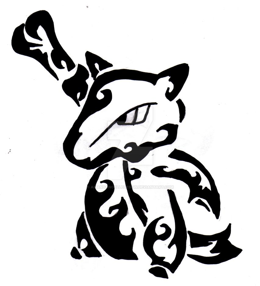tribal marowak by amandanoelledesign on deviantart