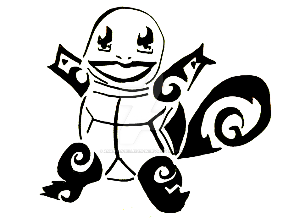 Pokemon Squirtle Tribal Tattoo Images | Pokemon Images