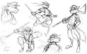 Sly Cooper Sketch