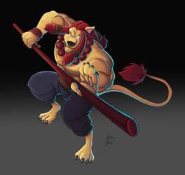 Lion Combat Stick