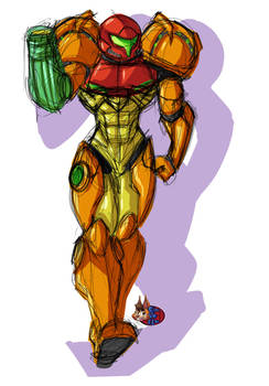 fast sketch and colors Samus