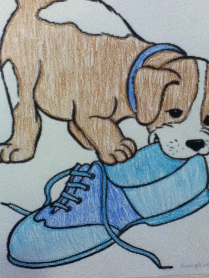 Dog Chewing On Shoe Cartoon By Mckensificationz On Deviantart