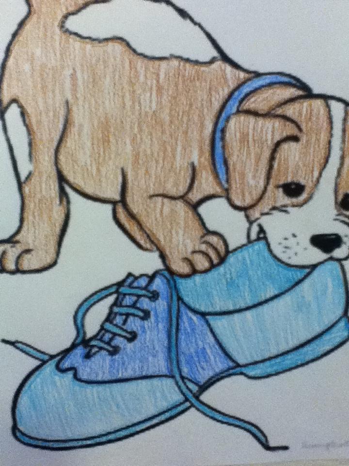 Dog Chewing On Shoe Cartoon By Mckensificationz On Deviantart