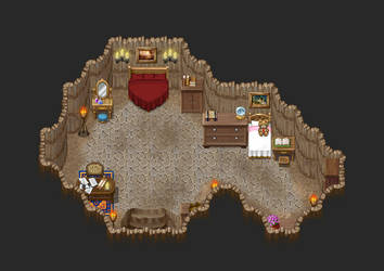 rpg maker desert cave interior fortress by ChampGaming