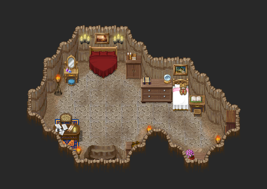 Rpg maker desert cave interior fortress by champgaming on for House map maker