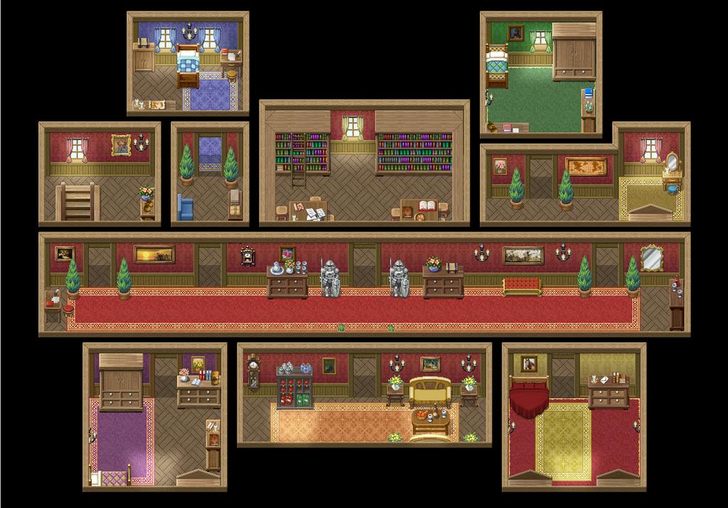 mansion interior 2nd floor by champgaming on deviantart