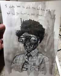 the Mandalorian/ IT crowd sketch