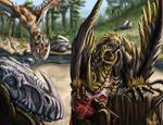 ARK Fan art: Dimorphy Snack Time