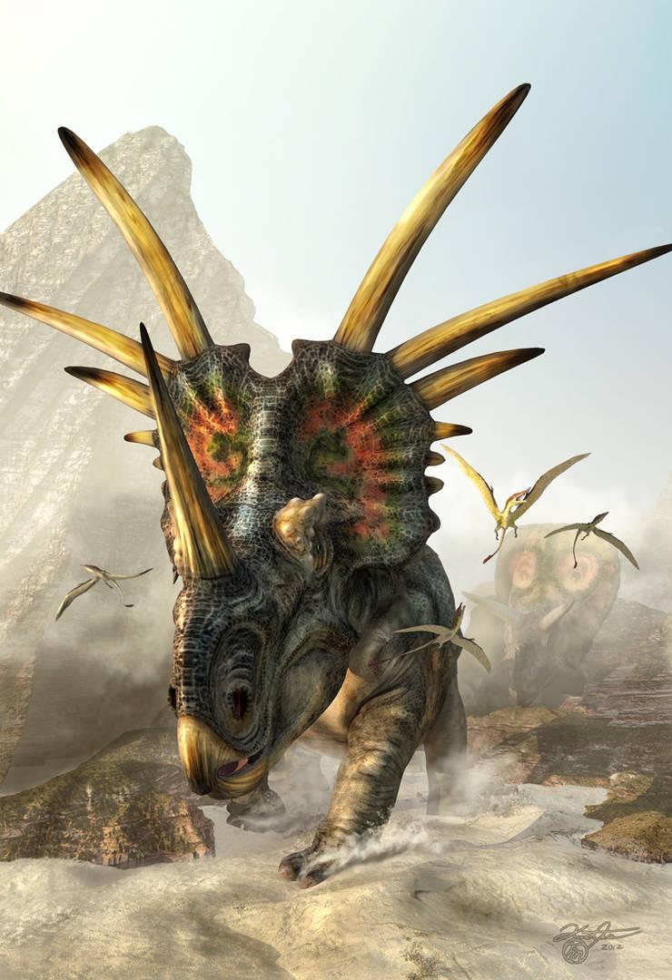 PrehistoricSpikes-Styracosaurus by KMIStudio