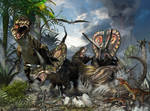 T-rex And Torosaurus