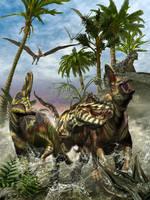 Corythosaurus Last Run by KMIStudio