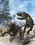 Ankylosaurus vs Tyrannosaur