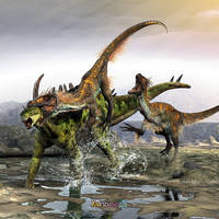 Through The Armor of Gigantspinosaurus by KMIStudio
