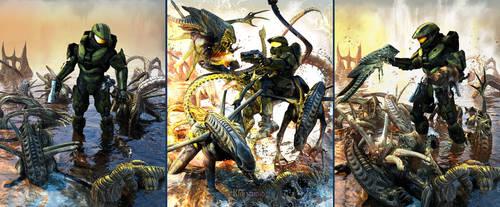 Halo-vs-Aliens  Save the Cat by KMIStudio