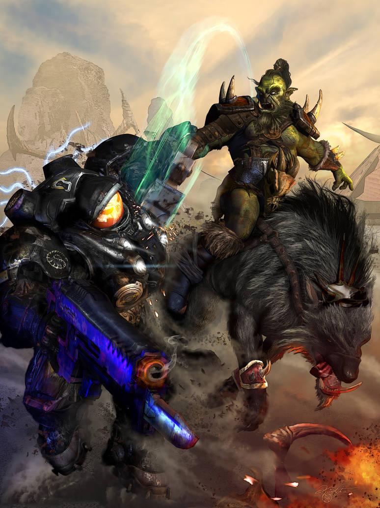 Heroes of the Storm: SciFi vs Fantasy by KMIStudio
